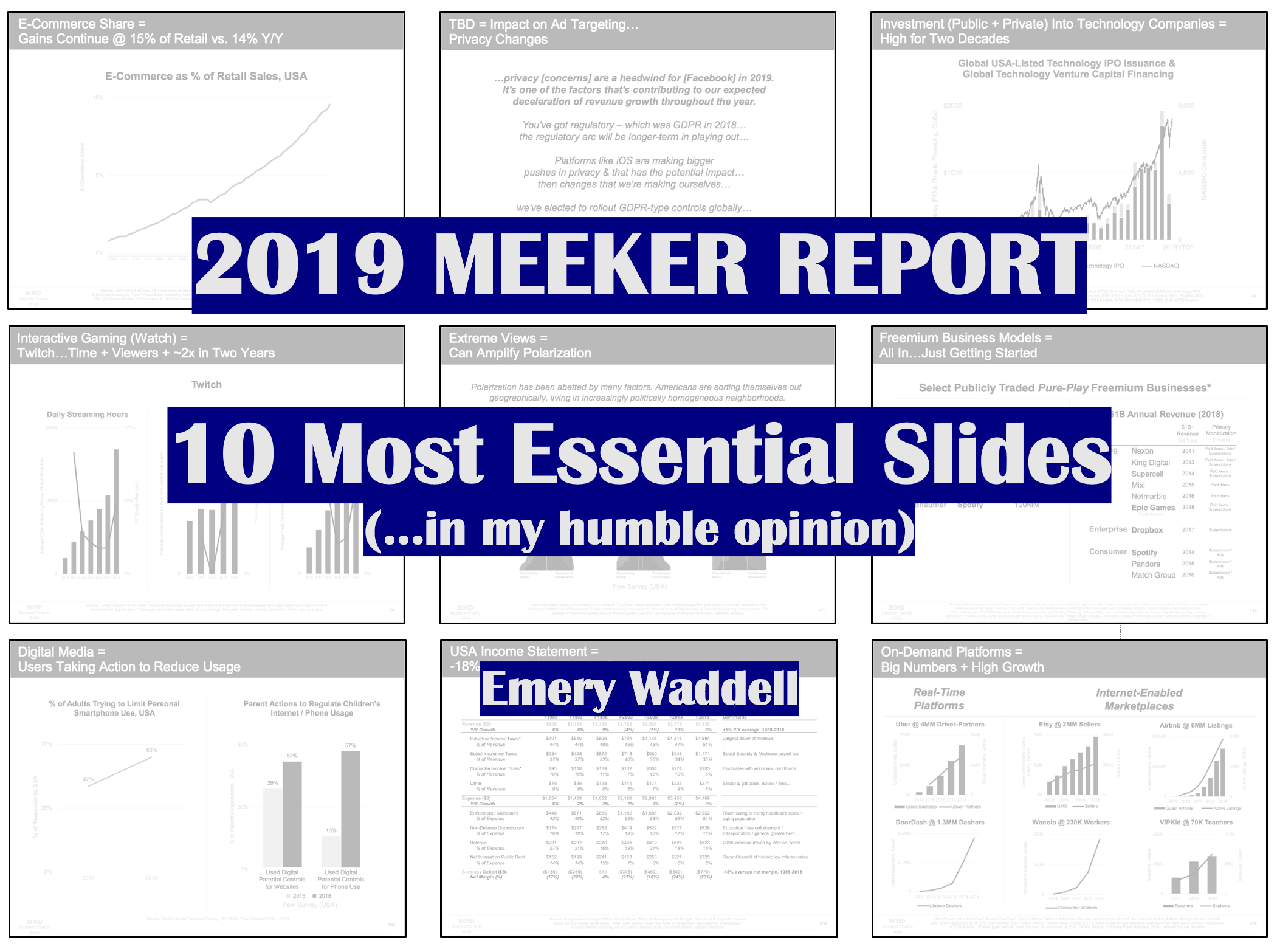 10 Most Essential Slides from 2019 Meeker Report